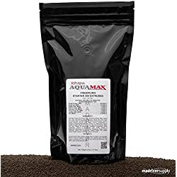 "Purina AquaMax Fingerling Starter 300, 50% Protein, 1/16""(1.6mm) Sinking Pellet For Fish, Carnivorous Aquatic Frogs, Fresh Water Turtle Hatchlings And Many Aquarium Species, By Mad River Supply, 24oz."