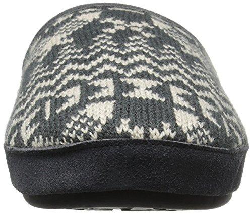 Woolrich Womens Whitecap Gebreide Mule Slip Op Slipper Houtskool Sneeuwschoen