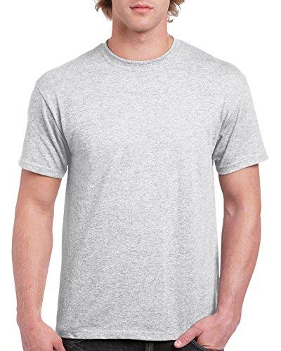 Gildan Men's Ultra Cotton Tee, Ash Grey, (Ash Gray T-shirt)