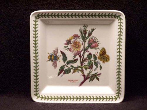 (Portmeirion Botanic Garden Square Salad Plate-Dog Rose)