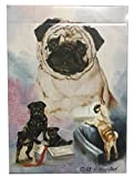 Pug Dog playing cards feature the stunning artwork of Ruth Maystead. These cards handle beautifully, are high quality and made in the USA. They come boxed (the box is in full color), they are poker sized (regular sized), and shrink wrapped. E...