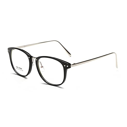 9d263ca94cb Image Unavailable. Image not available for. Color  Simvey Unisex Classic  Retro Designer Round TR90 Glasses Frames