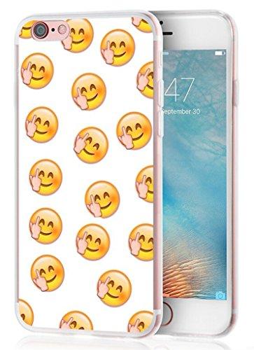 6S Plus Case Emoji, Apple Iphone 6 Plus Case Funny Fuck Protective and Pretty