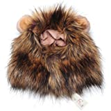 Stonges Pet Costume Lion Mane Wig for Dog Cat Halloween Dress up with Ears