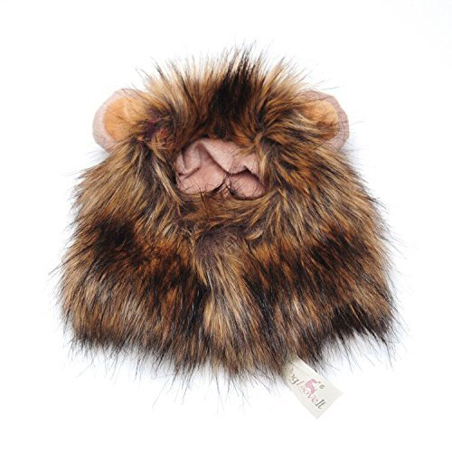 [Lion Mane for Cat Appreal, Dogloveit Pet Costume Lion Wig for Dog Cat Halloween Pet Dress up with Ears] (Lion Dog Halloween Costumes)