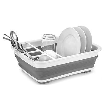 ZHESHEN Escurreplatos Plegable Silicona - Escurreplatos Portable Blanco -  Escurridor De Platos O Utensilios De Cocina Para Secador Y Escurrir. 6cd0b57a02b9