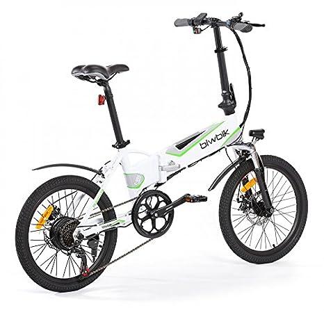 Bicicleta ELECTRICA Plegable Mod. Traveller (Blanco BATERIA 12Ah): Amazon.es: Deportes y aire libre