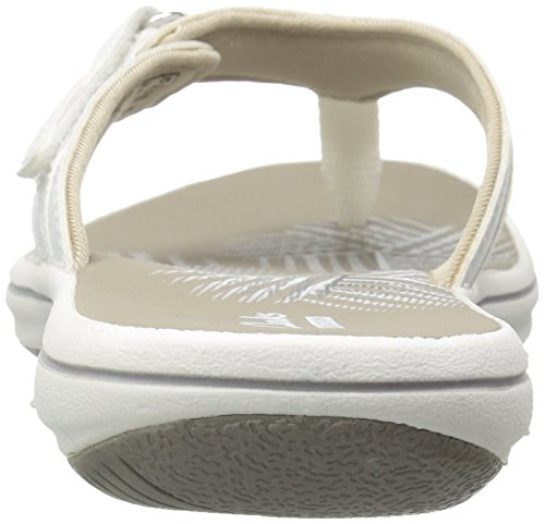 CLARKS Women's Breeze Sea Flip Flop, New White Synthetic, 9 M US by CLARKS (Image #9)