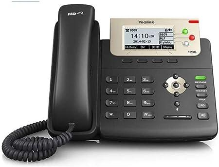 Yealink SIP-T23G - Teléfono IP, color negro: Yealink: Amazon.es: Electrónica