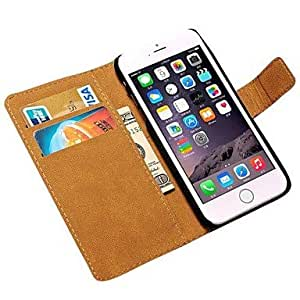Zaki Smoothy Pattern Genuine Leather Cover for iPhone 6 Plus Assorted Colors , Brown