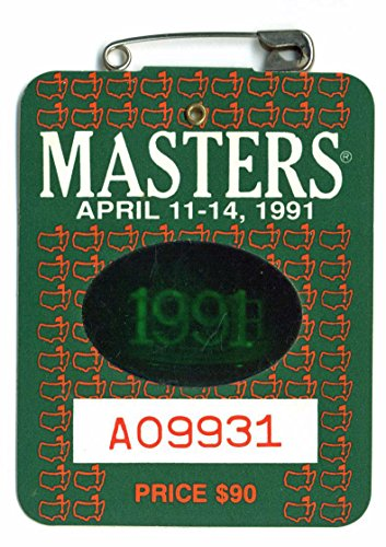 1991 Masters Augusta National Golf Club Badge Ticket Ian Woosnam Wins PGA