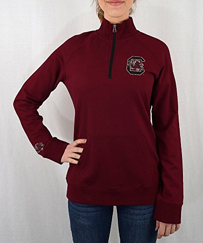 South Carolina Gamecocks Women's Quarter Zip Captain Garnet - (South Carolina Womens Zip)