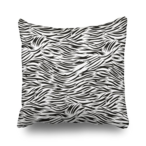 Sneeepee Decorative Throw Pillows Covers Textile Fabric Artificial Leather Animal Fur Design Square 16x16 Inches Pillow Cases Design Home Decor Sofa Cushion ()