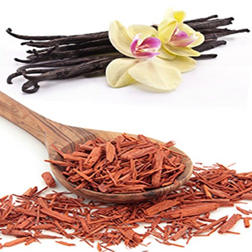 SANDALWOOD VANILLA FRAGRANCE OIL - 8 OZ - FOR CANDLE & SOAP MAKING BY VIRGINIA CANDLE SUPPLY - FREE S&H IN USA