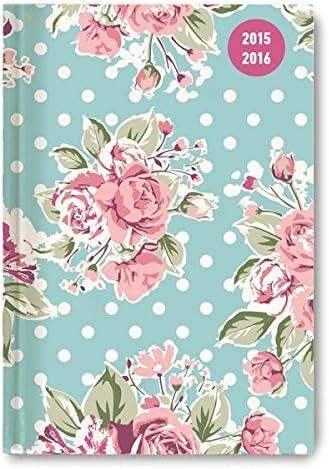 Alpha Edition 16.0675 Rose Diario Scuola Collegetimer, A6, 2015/2016, 1 Settimana Su 2 Pagine