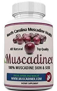 MX1 Longevity Blend. Muscadine Resveratrol, Ellagic Acid, Quercetin, Kaempferol & Myricetin. Diabetic friendly. 60 vege caps.