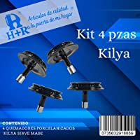 H+R Repuesto compatible Quemador Mabe, Iem, Easy (kilya) juego de 4 piezas