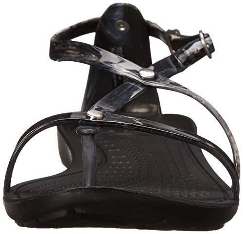 Black marbré Sexi Sandal White Black Crocs Vraiment YqC0CB