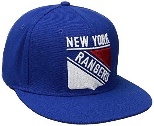 f7f7ea47c6b NHL New York Rangers Men s SP17 Oversized Logo Flat Visor Flex Cap