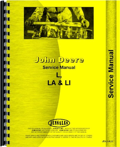 John Deere LA Tractor Service Manual (John Deere Tractor Service Book)