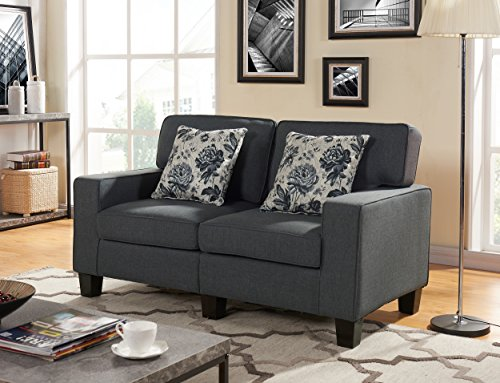 US Pride Furniture S5138 Contemporary Style Fabric Armed Loveseat
