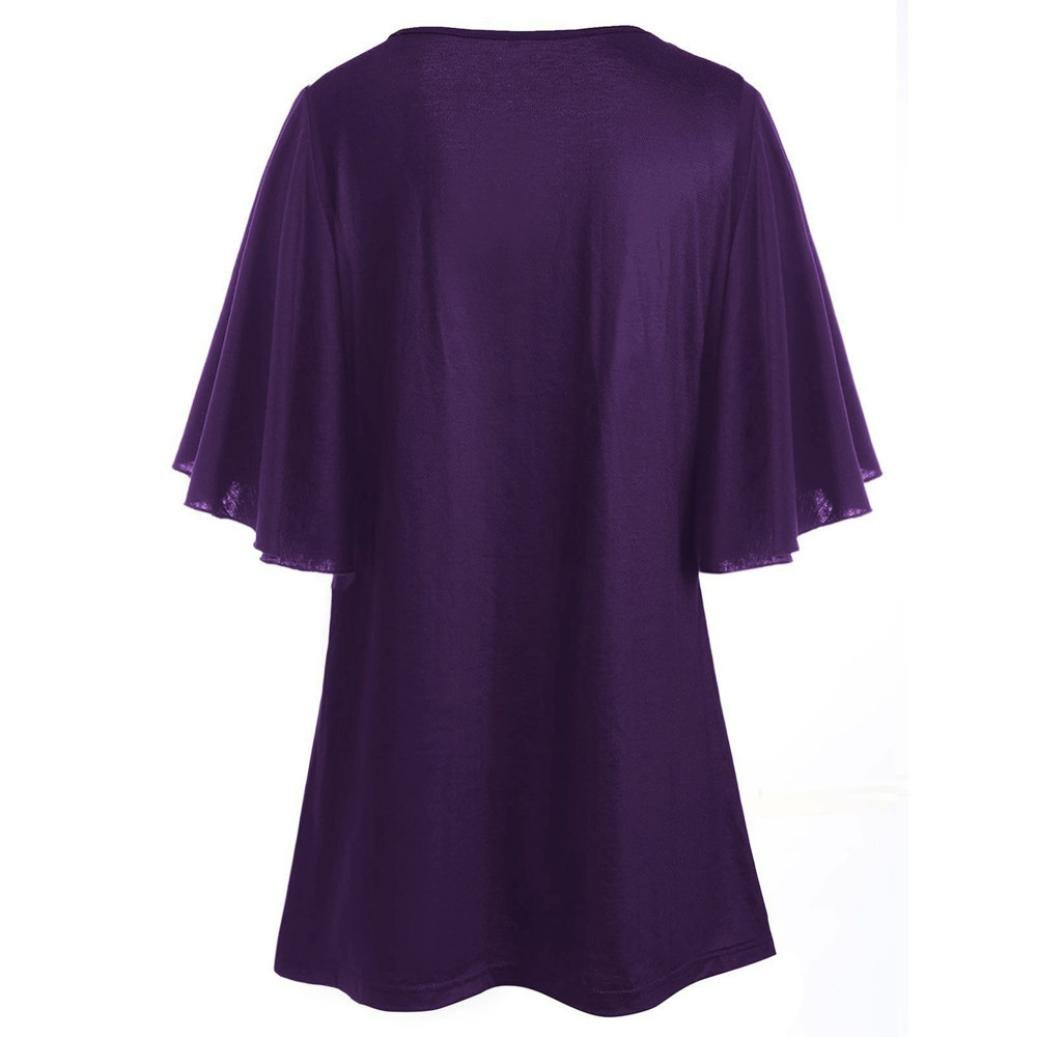 Blusa de Manga Larga Holgada Moda Camiseta Imprimirde Tops Nota Musical Impreso LILICAT Camisetas Talla Grande Mujer Blusa Tops Mariposa