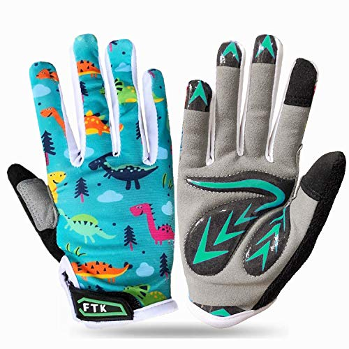 Jeantet Sport Cycling Gloves For Boys Children Junior Youth Girls Full Finger Value Pair, Glove Mountain Bike Sports…