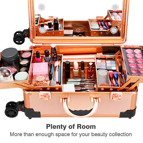 Ovonni Makeup Train Case With Bluetooth Speaker Free