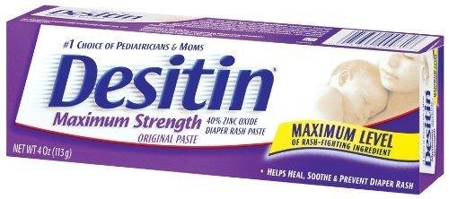 Desitin Maximum Strength Paste, 4-Ounce (Pack of 2) - Desitin Creamy Ointment