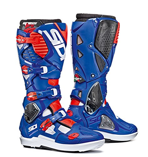 (Sidi Crossfire 3 SRS Off Road Motorcycle Boots White/Blue/Flo Red US11.5/EU46 (More Size Options))