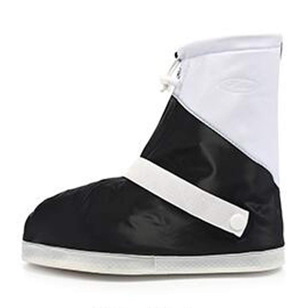 WUZHONGDIAN Shoe Cover, Waterproof Boots and Wearable Shoe Covers, Reusable Non-Slip Rain and Snow Shoe Covers (Color : Black, Size : XL) by WUZHONGDIAN