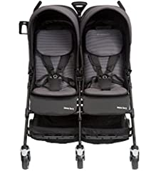 Little ones from newborns to toddlers will travel in perfect comfort in Maxi-Codi Dana For2 Double Side by Side stroller. Traveling with twins or close-in-age siblings is simple with this unique double stroller. It's not only big enough for t...