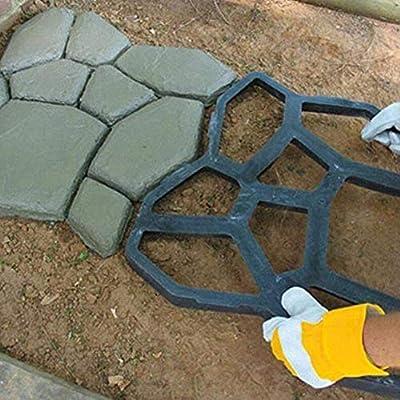 bossMA Molde de Piedra Walk Maker, Molde de Camino de pavimento Manual Personalizado de Bricolaje, Patio de jardín de moldeo de Cemento de hormigón Reutilizable: Amazon.es: Hogar