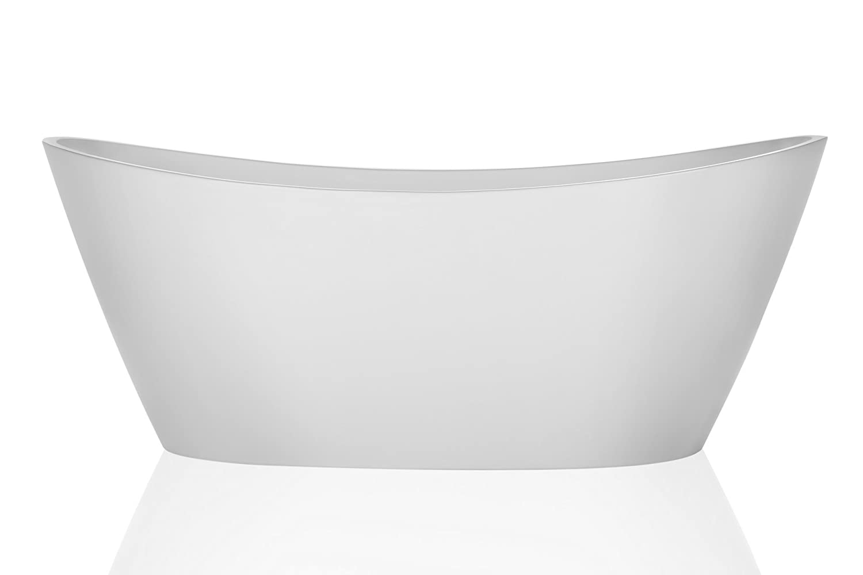 Empava Luxury Freestanding Acrylic Soaking SPA Tub Modern Stand ...