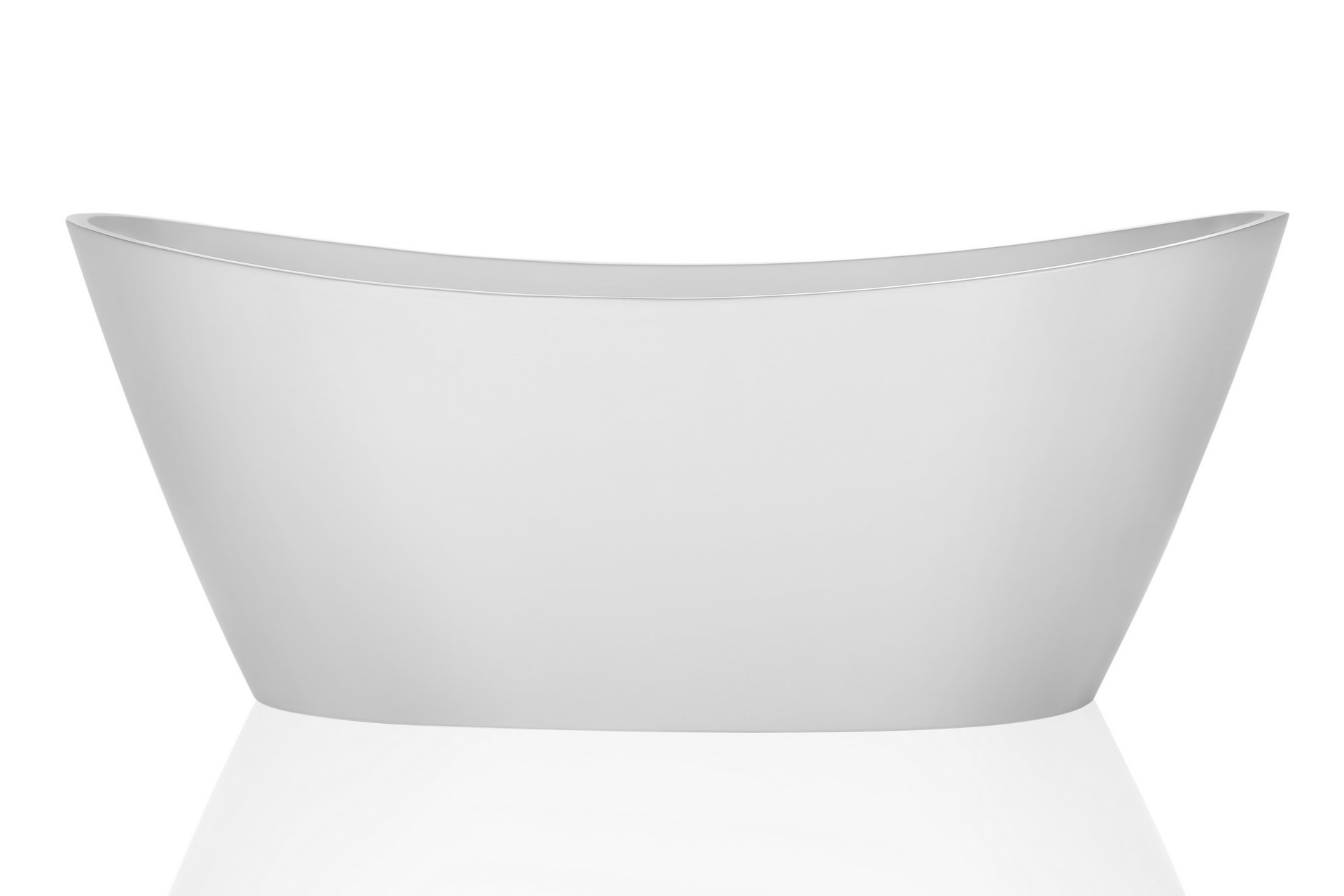 Empava 67'' Luxury Freestanding Acrylic Soaking SPA Tub Modern Stand Alone Bathtubs with Custom Contemporary Design EMPV-FT1518 by Empava