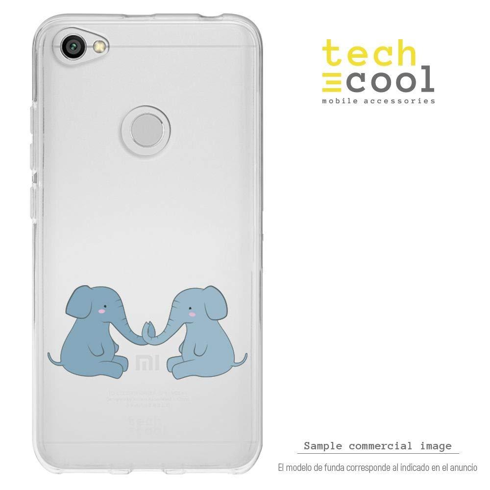 5A Prime Funnytech/® Funda Silicona para Xiaomi Redmi Note 5A Gel Silicona Flexible, Dise/ño Exclusivo Dinosaurios Fondo Azul