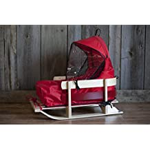 JAB Wooden Baby Sled with Cushion and Windshield