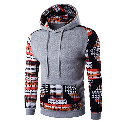 Blouse ,Beautyvan Fashion Men Bohemia Retro Hoodie Hooded Sweatshirt Coat (XL, Multi) ()