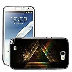 Super Stellar Slim PC Hard Case Cover Skin Armor Shell Protection // M00051612 triangle rainbow aero // Samsung Galaxy Note 2 N7100
