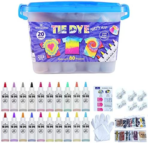 WINSONS Tie Dye Kit, 20 Colores de Tinte de Tela ...