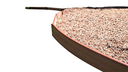 """Frame It All 300001751 Classic Sienna Curved Playground Border 16' – 1"""" Profile, Brown"""