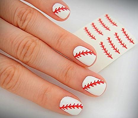 - Baseball Softball Laces Nail Vinyls Fingernail Decals - - Amazon.com