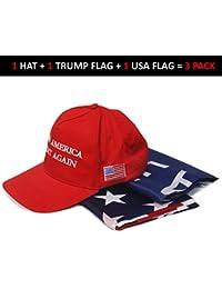 Donald Trump Hat Cap   Make America Great Again USA (Red, Black, White)