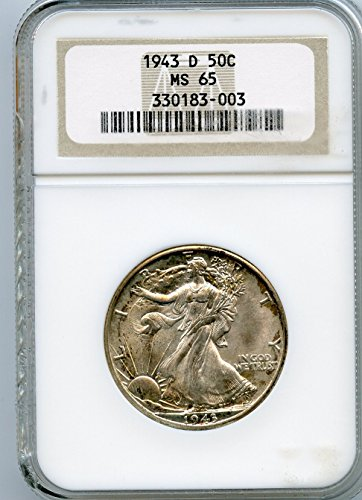 1943 D Walking Liberty Half Dollar MS-65 NGC