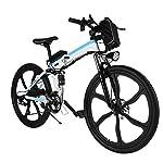 """51JJyE37czL. SS150 Speedrid 20""""/ 26"""" / 27,5""""bici elettrica/city ebike/escursionismo e-bike/mountain e-bike dotata di batteria agli ioni di litio 36V / 10Ah / 12,5Ah per uomini donne adulti. (36V/8Ah 26'' bianco)"""