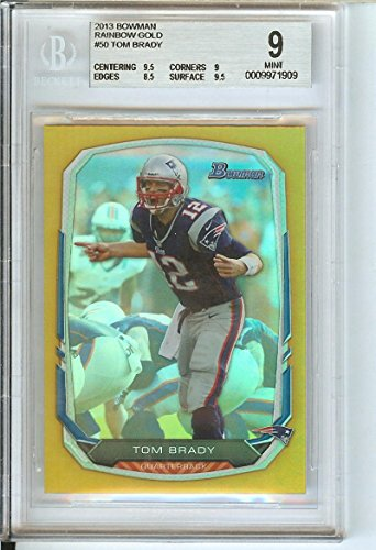 Football NFL 2013 Bowman Rainbow Gold #50 Tom Brady 34/75 Patriots by tom brady