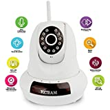 IP Camera, YCCTEAM FI-366 720p WiFi Security Camera, Plug and Play, Pan/Tilt with 2-Way Audio, Night Vision, Motion Detection, Micro SD Card up to 32GB