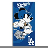 Los Angeles Dodgers Mickey Mouse Large Beach Towel
