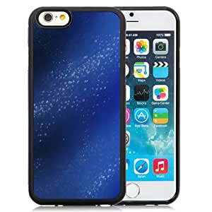 Fashionable And Unique Designed Cover Case For iPhone 6 4.7 Inch TPU With Blue Water Bubbles_Black Phone Case
