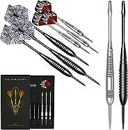 Professional Darts Metal Tip Set of 6 Pack, Steel Tip Darts Set, 2 Styles Brass Throwing Darts Brass in Dart C